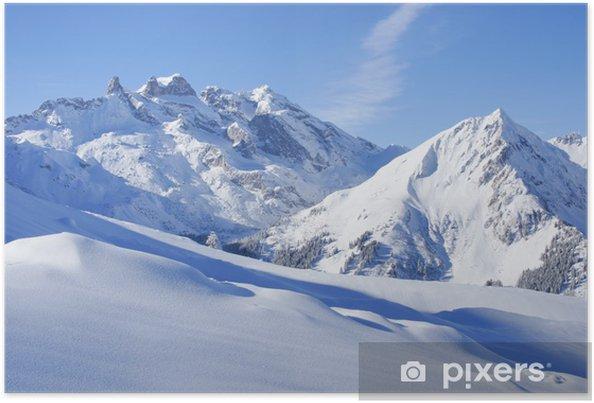 Poster Winter landschap in de Alpen - Thema's