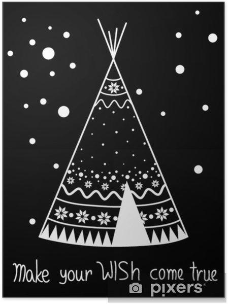 Poster Winter teppe in de negatieve, moderne stijl - Religie en Cultuur