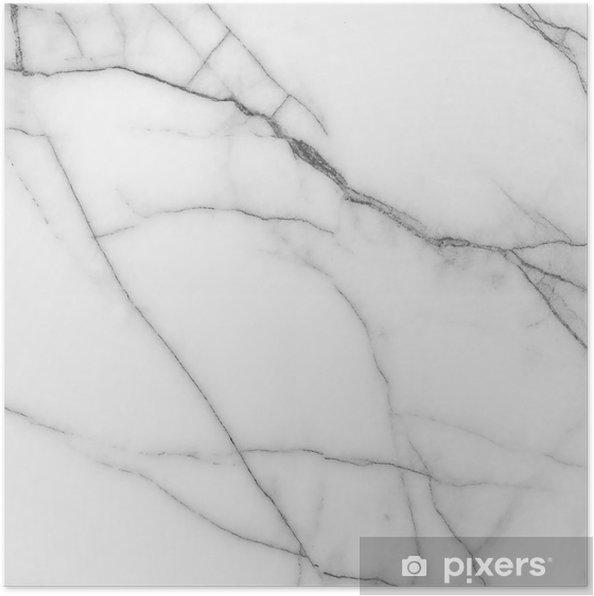 Poster Wit marmeren textuur. - Texturen