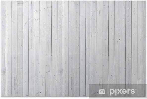 Poster Witte houten muur - Thema's