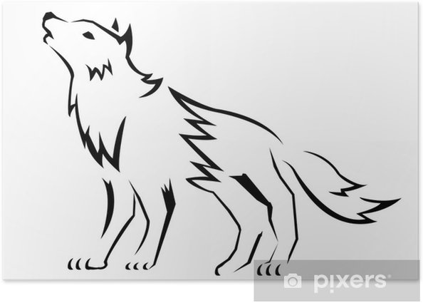Poster Wolf - Mammifères