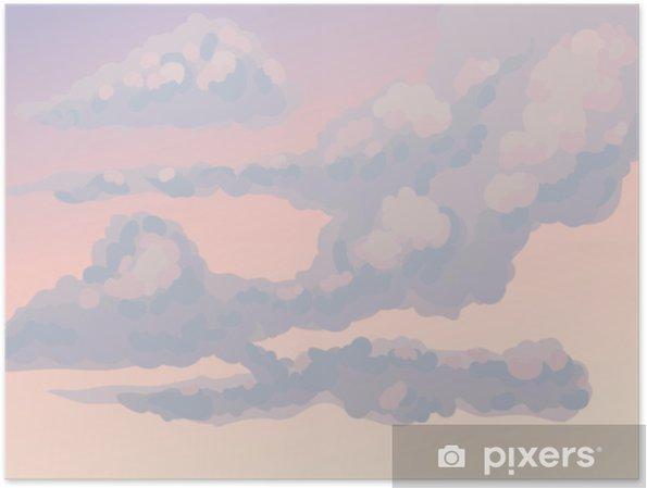 Poster Wolken. vector tekening - Grafische Bronnen