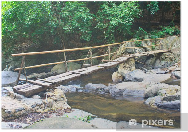 Wooden Bridge Over The Stream Poster