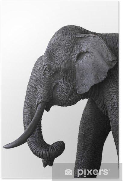 Wooden elephant Poster - Mammals