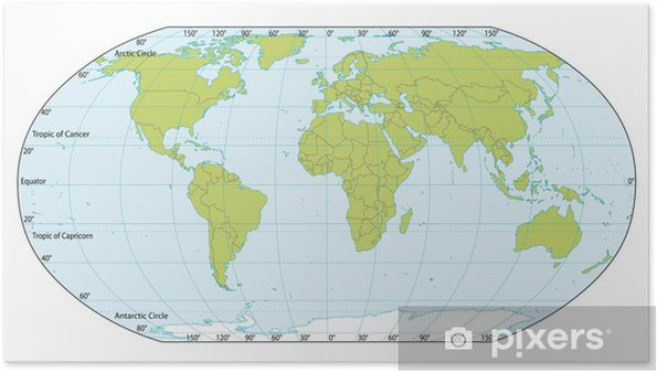 World Map With Coordinates Actual Version Included South Sudan