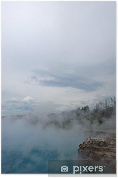 Poster Yellowstone Geyser - Amérique