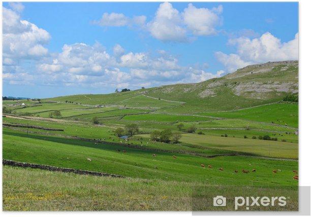 Poster Yorkshire Dales paysage accidenté - Campagne