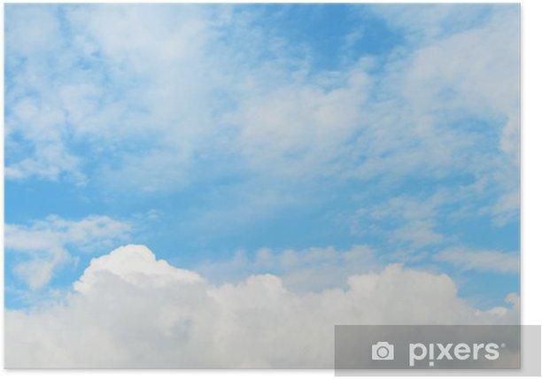 Poster Zachte wolken in de lucht - Hemel