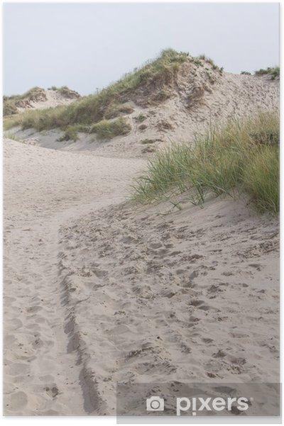 Poster Zanderige duinen bij de waddeneilanden in Nederland - Eilanden