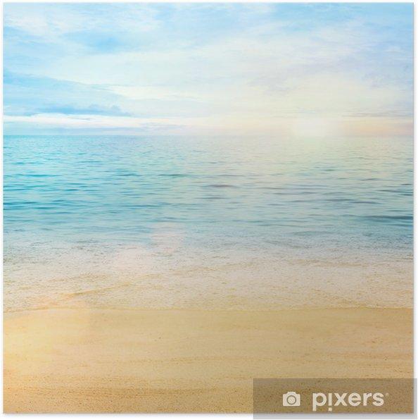 Poster Zee en zand achtergrond - Stijlen