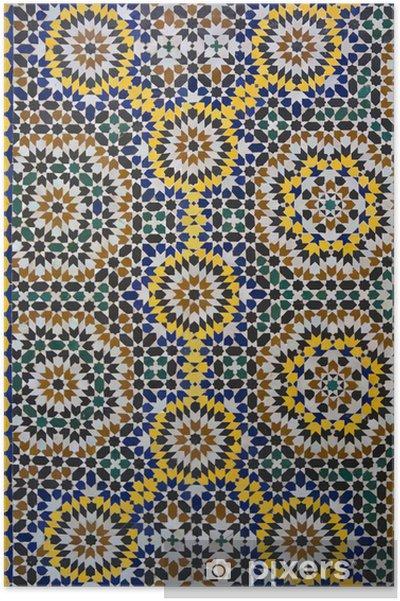 Póster Zellige marroquí del modelo del azulejo - Marruecos