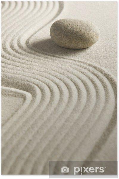Poster Zen caillou - Autres sentiments