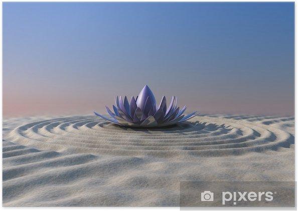 Póster Zen garden - Señales y símbolos