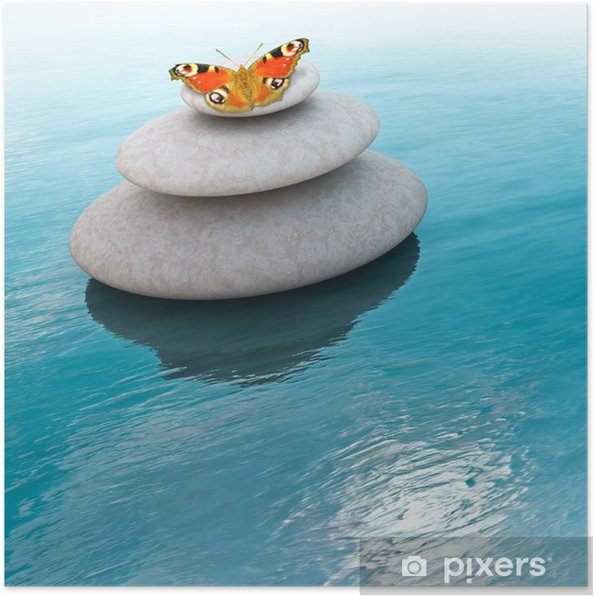 Poster Zen stones - Thèmes