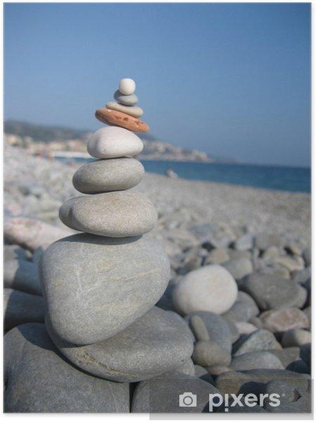Poster Zen zen - Abstrait