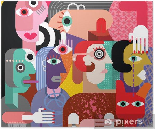 Poster Zes vrouwen en hond - Thema's
