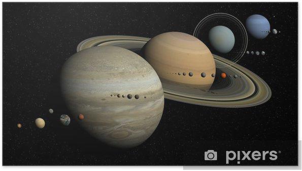 Poster Zonnestelsel - Planeten