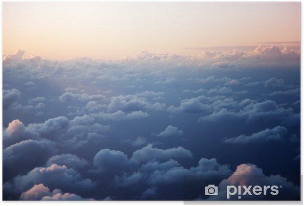 Poster Zonsondergang en wolken - Thema's