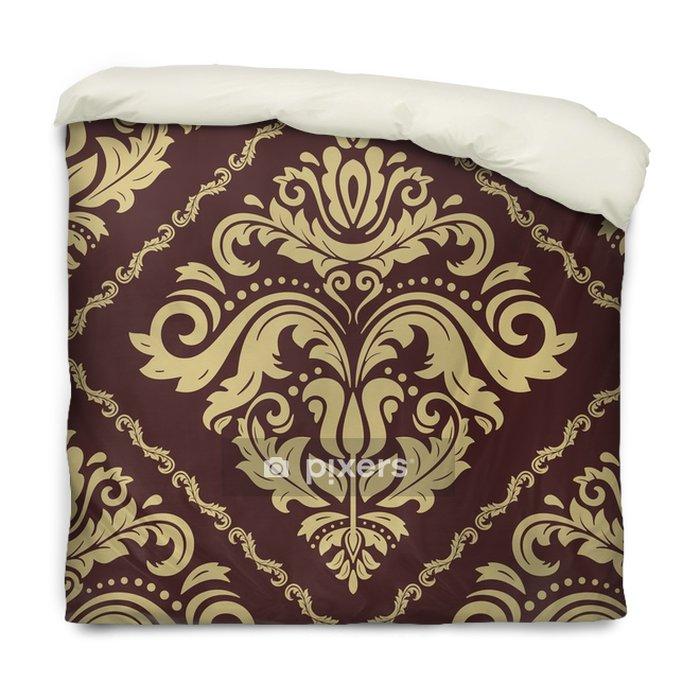 Poszewka na kołdrę Bezszwowy klasyczny złoty wzór. tradycyjny orient ornament. klasyczne tło - Zasoby graficzne