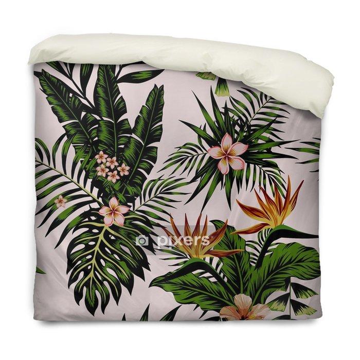 Poszewka na kołdrę Egzotyczne kompozycje kwiatów i roślin - Rośliny i kwiaty