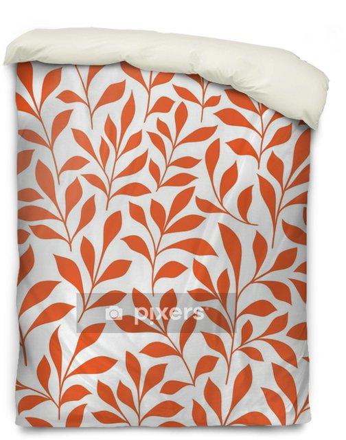 Poszewka na kołdrę Jednolite wzór pomarańczowe dzikie zioła - Zasoby graficzne