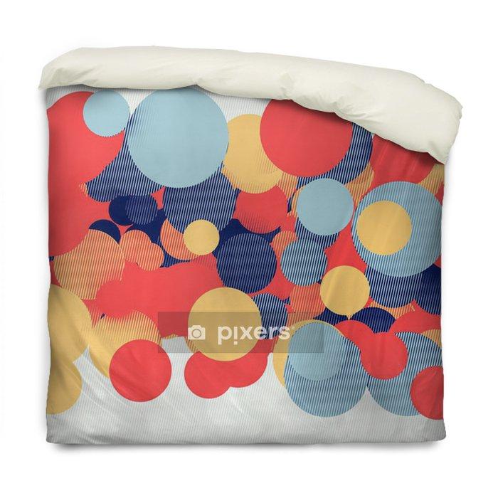 Poszewka na kołdrę Kolorowe koła 3d - Abstrakcja