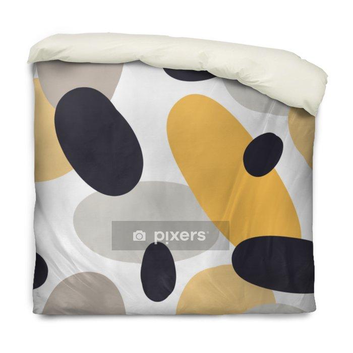 Poszewka na kołdrę Nowoczesny wzór z abstrakcyjne kształty kolorowe: koła, owale. doodle ręcznie rysowane tekstury. modny kreatywny onfetti tło do druku na nowoczesne i oryginalne tkaniny, papier pakowy - Zasoby graficzne