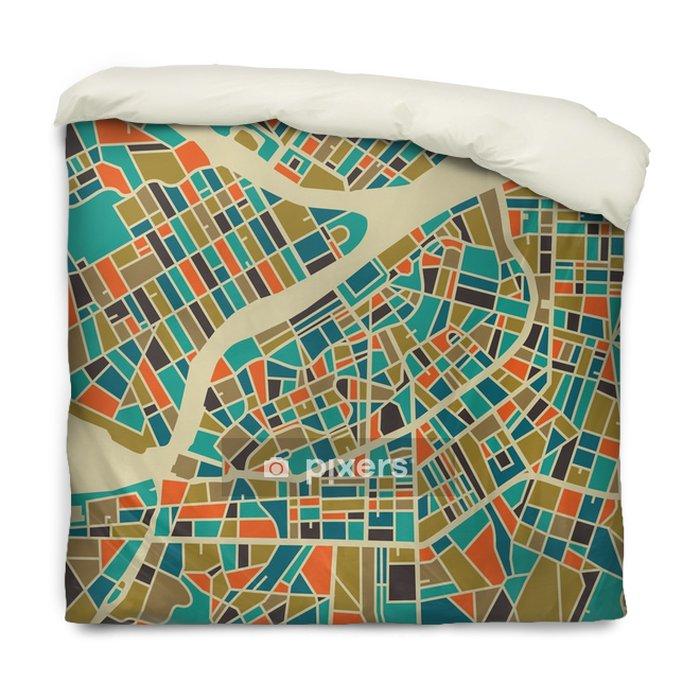 Poszewka na kołdrę Petersburg map wektorowych. Kolorowe rocznika podstawy projektowania karty podróży, reklamy, prezent lub plakatu. - Podróże