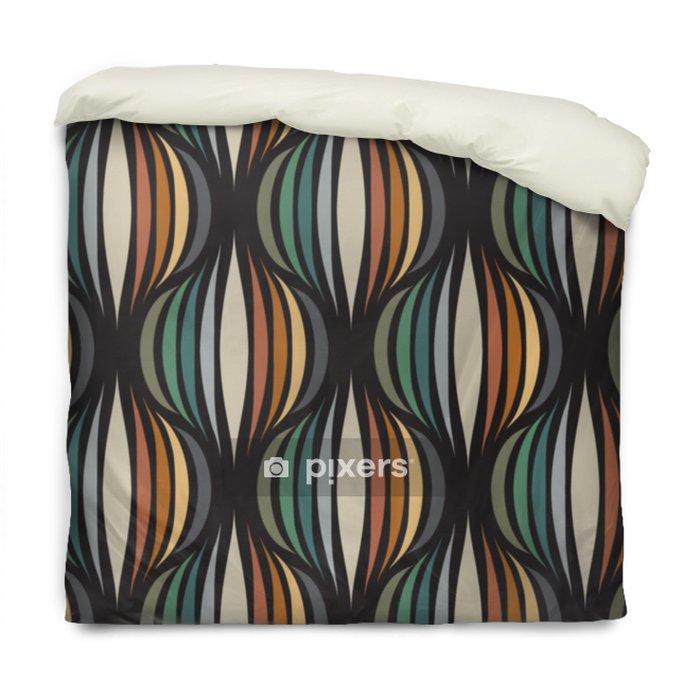 Poszewka na kołdrę Retro powtarzalne tapety - vintage wektor wzór - Zasoby graficzne