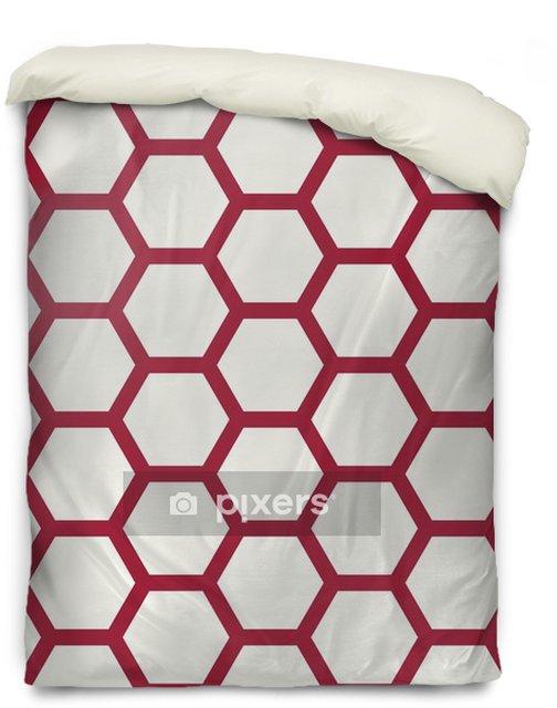 Poszewka na kołdrę Streszczenie geometryczny czerwony i biały wzór graficzny deco - Zasoby graficzne