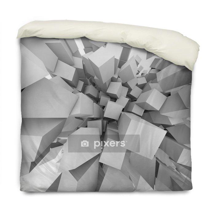 Poszewka na kołdrę Streszczenie kostki 3D eksplodować tło. -