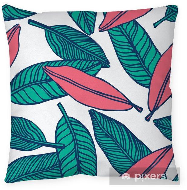 Poszewka na poduszkę Bezszwowe tropikalna dżungla kwiatowy wzór tła - Zasoby graficzne