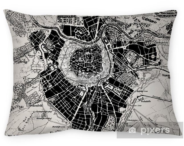 Poszewka na poduszkę Historyczne mapy Wien, Austria. - Tematy