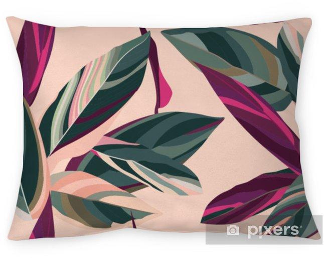 Poszewka na poduszkę Liście Cordelia na różowym tle. kwiatowy wzór. - Rośliny i kwiaty
