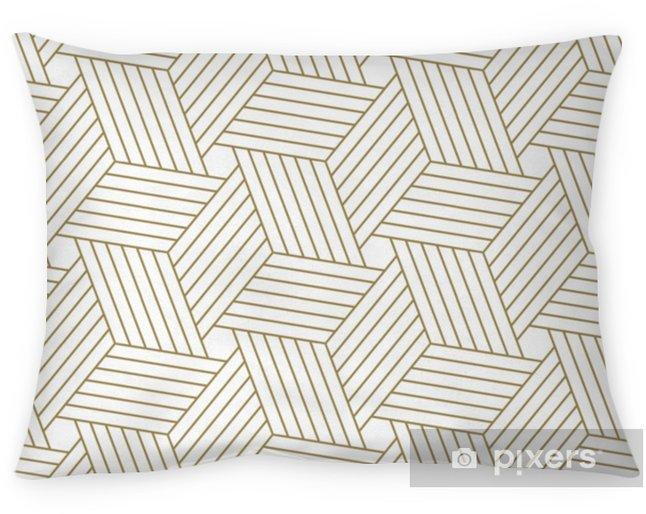 Poszewka na poduszkę Nowoczesny prosty wektor geometryczny wzór z tekstura linia złota na białym tle. lekkie abstrakcyjne tapety, jasne tło płytek. - Zasoby graficzne