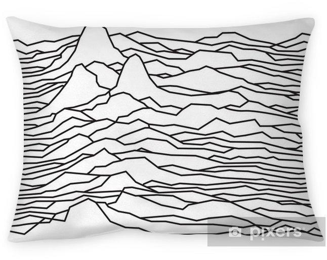 Poszewka na poduszkę Rytm fal, pulsara, linie wektora projektowania, przerywaną, góry - Zasoby graficzne