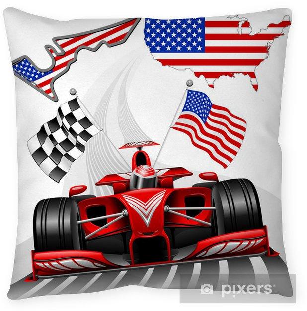 Poszewka na poduszkę Samochodów wyścigowych Formuły 1 GP Austin USA - Tematy