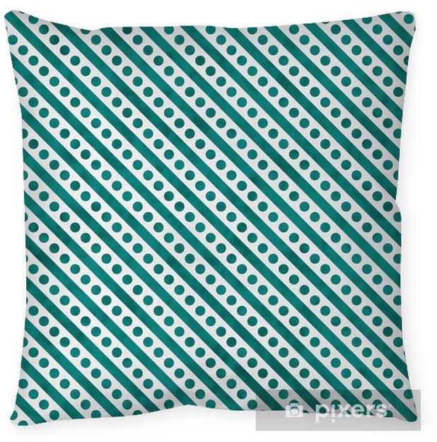 Poszewka na poduszkę Teal i jasny Biały Mała Polka Dots and Stripes Wzór Repea - Tematy