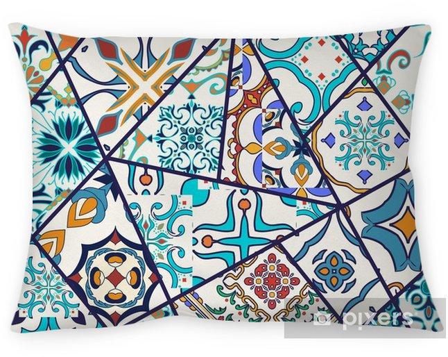 Poszewka Na Poduszkę Tło Dekoracyjne Mozaiki Patchwork Wzór Do Projektowania I Mody