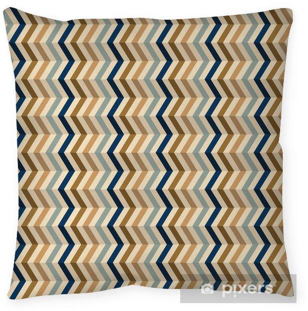 Poszewka na poduszkę Wzór mody zygzak w kolorach retro - Tła
