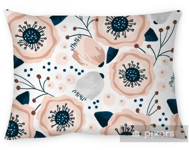 Poszewka na poduszkę Wzór z kwiatami w pastelowych kolorach. twórczy kwiatowy tekstury. doskonale nadaje się do tkaniny, ilustracji wektorowych włókienniczych - Zasoby graficzne