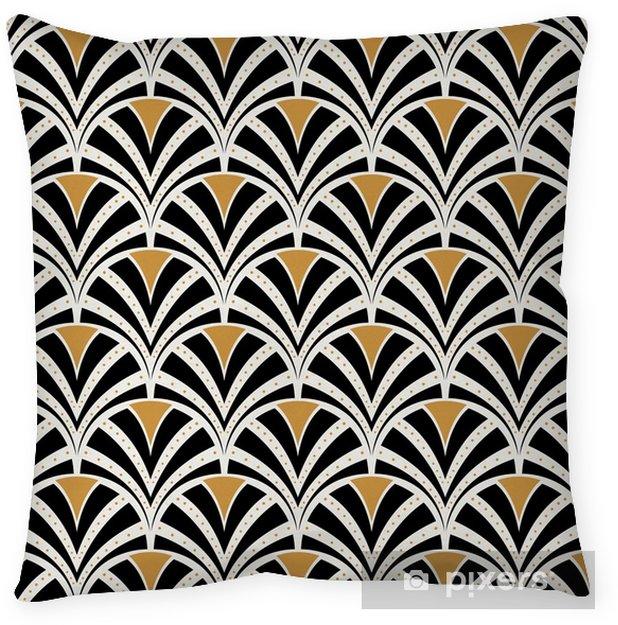 Povlak na polštář Vektorové květinové umění secesní bezproblémové vzorek. geometrické dekorativní listy textury. retro stylové pozadí. - Grafika