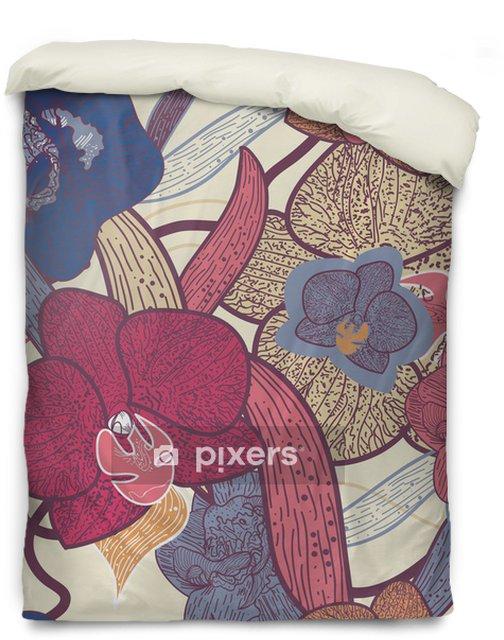 Povlak na přikrývku Bezešvé květinové textury - Pozadí