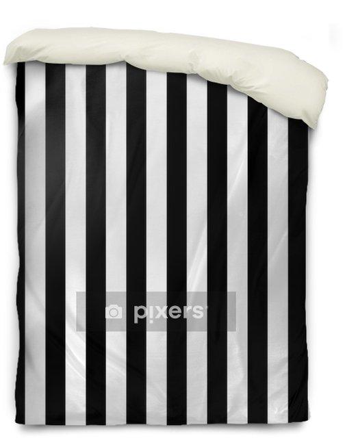 Povlak na přikrývku Černé a bílé pruhované pozadí - Jiné objekty