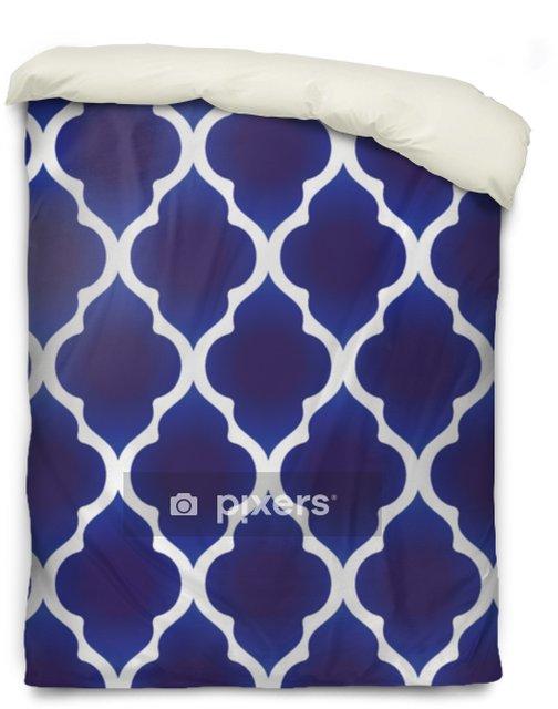 Povlak na přikrývku Modrý a bílý islámský vzor - Grafika