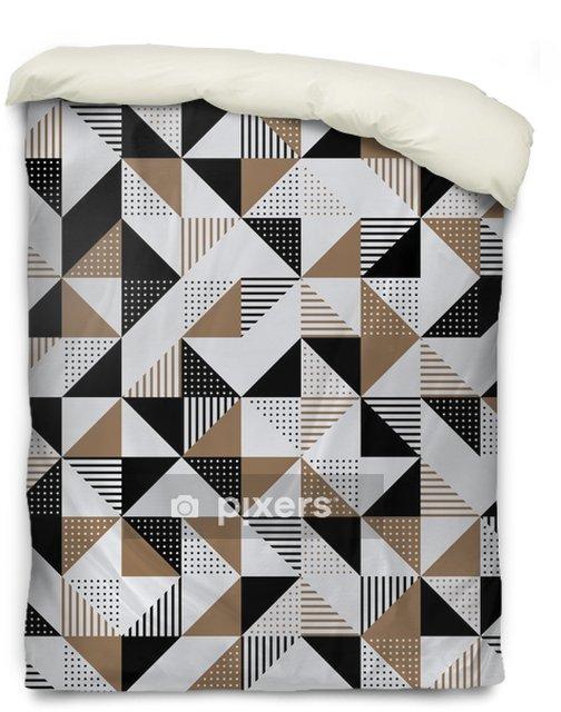 Povlak na přikrývku Zlaté a černé geometrické pozadí. - Grafika