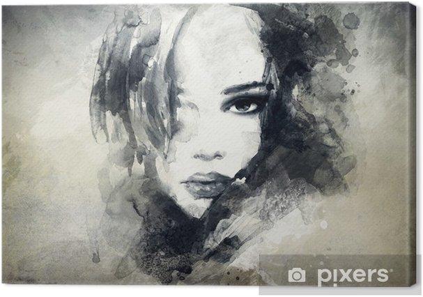 abstract woman portrait Premium prints -
