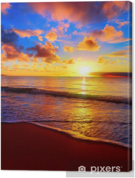 Beautiful tropical sunset on the beach Premium prints - Themes