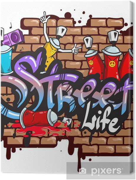 Graffiti word characters composition Premium prints - Wall decals