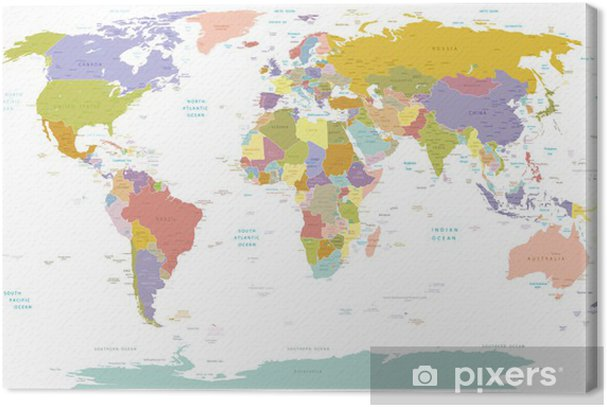 High Detail World map.Layers used. Premium prints - Themes